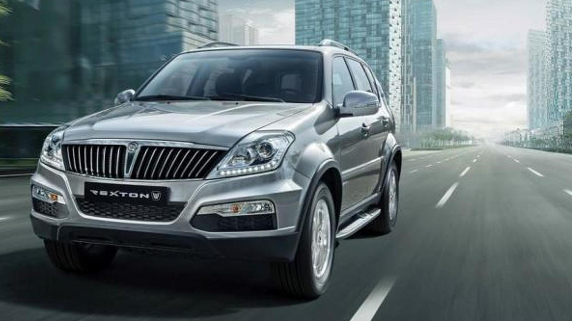 ssangyong rexton facelift revealed. Black Bedroom Furniture Sets. Home Design Ideas
