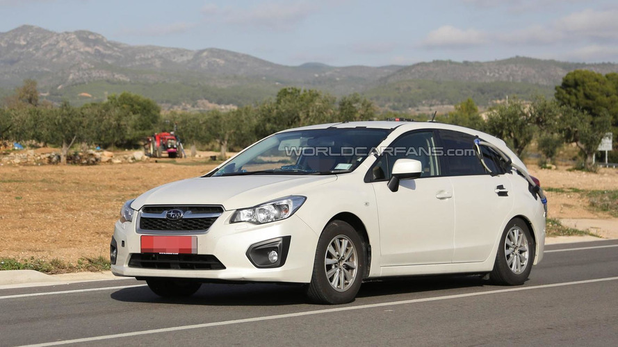 Next generation Subaru Impreza mule spied testing new engine