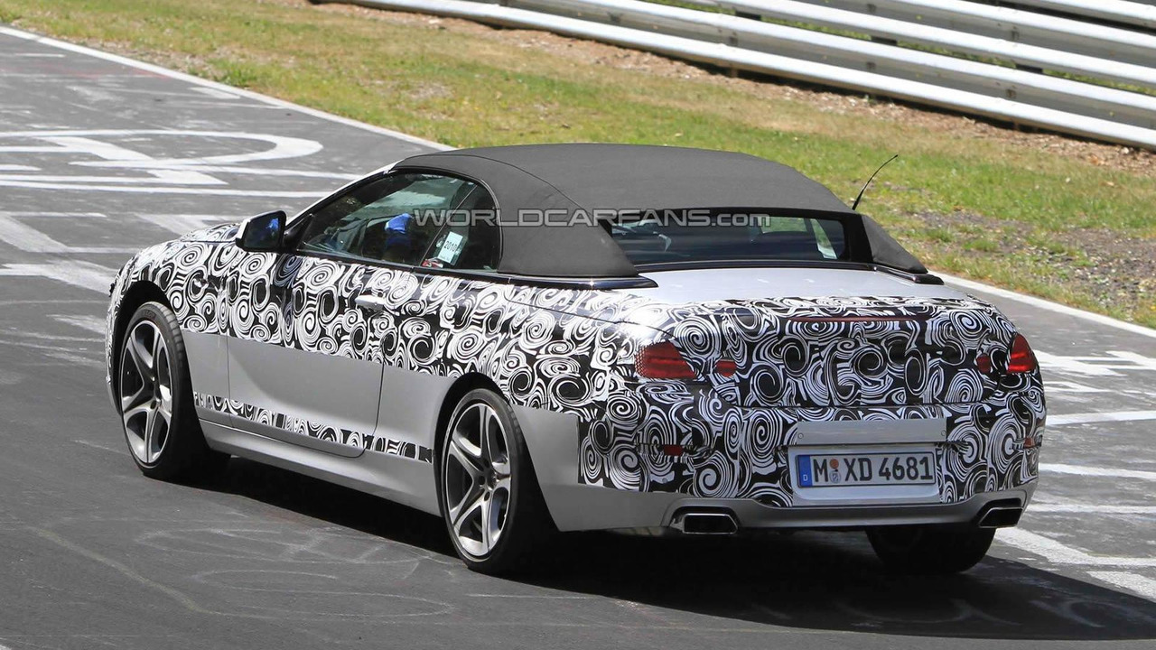 2012 BMW 6-Series Cabrio prototype testing on Nurburgring
