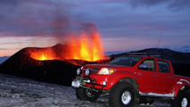 Toyota Hilux taunts Iceland's volcano moments before eruption - Top Gear takes credit