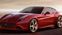 Ferrari California T Coupe render previews a hypothetical future masterpiece