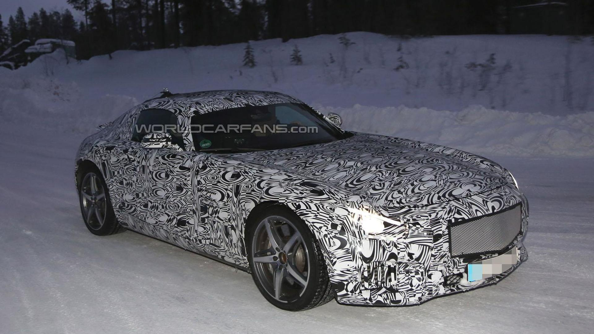 Mercedes AMG GT spied near the Arctic Circle