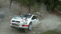WRC racing in action