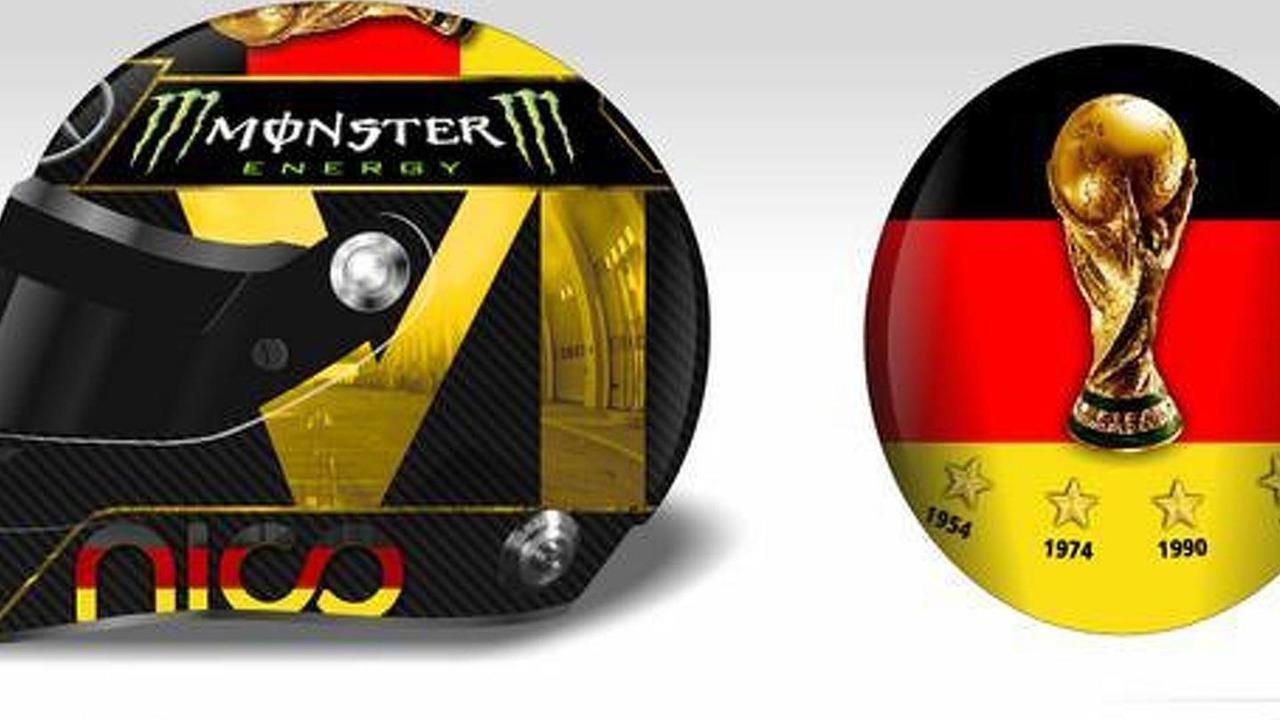 Nico Rosberg Hockenheim GP helmet