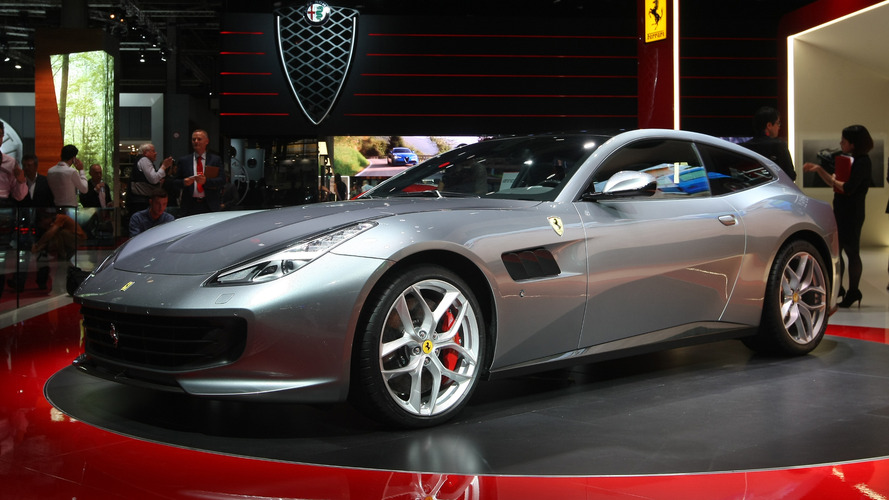 Ferrari GTC4Lusso T shows off its V8 engine in Paris