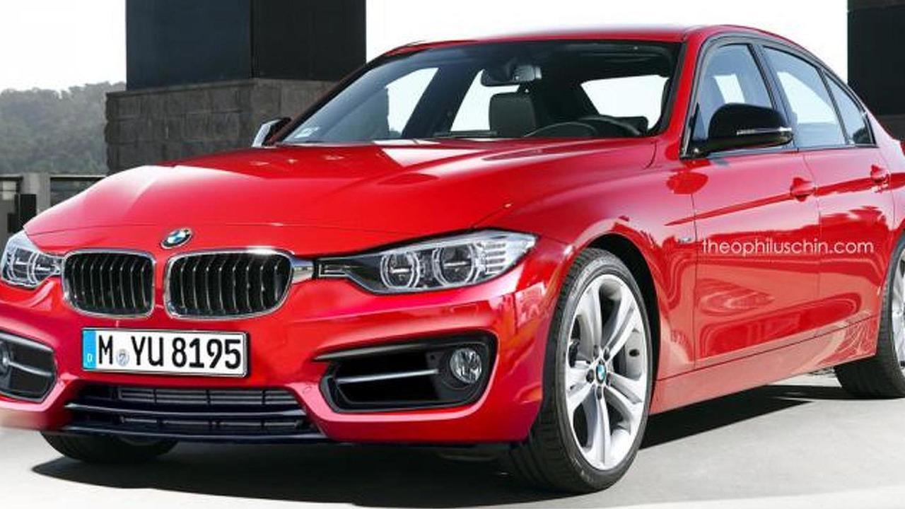 2015 BMW 3-Series facelift render