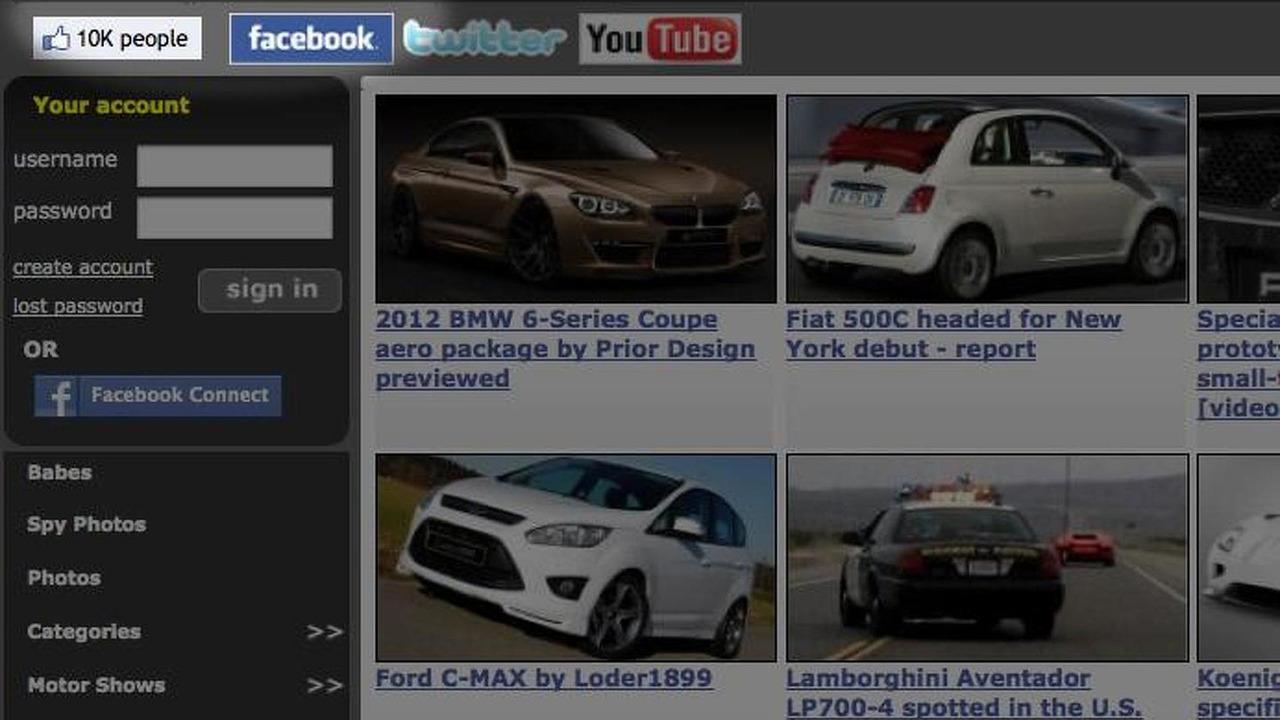 WorldCarFans.com Facebook 10,000th friend screenshot, 692, 22.03.2011