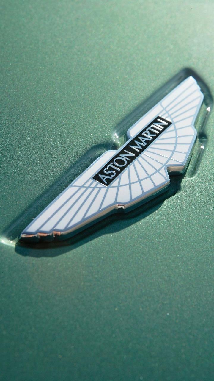 Aston Martin hood emblem logo