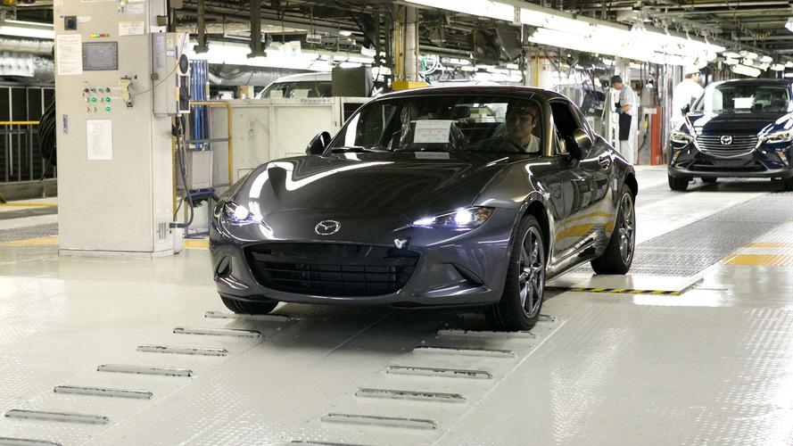 Mazda MX-5 RF production begins in Japan