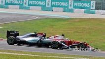 Sebastian Vettel at the Malaysian GP