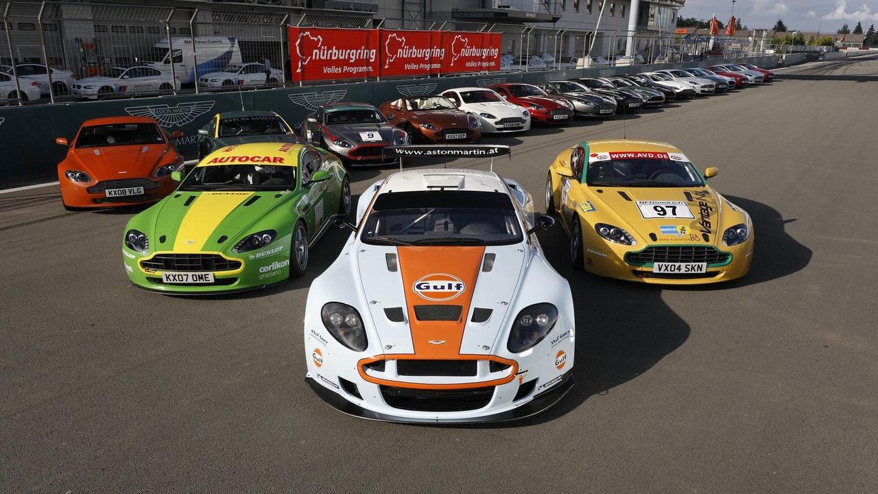 Aston Martin race cars Nürburgring 24 Hour race 2009