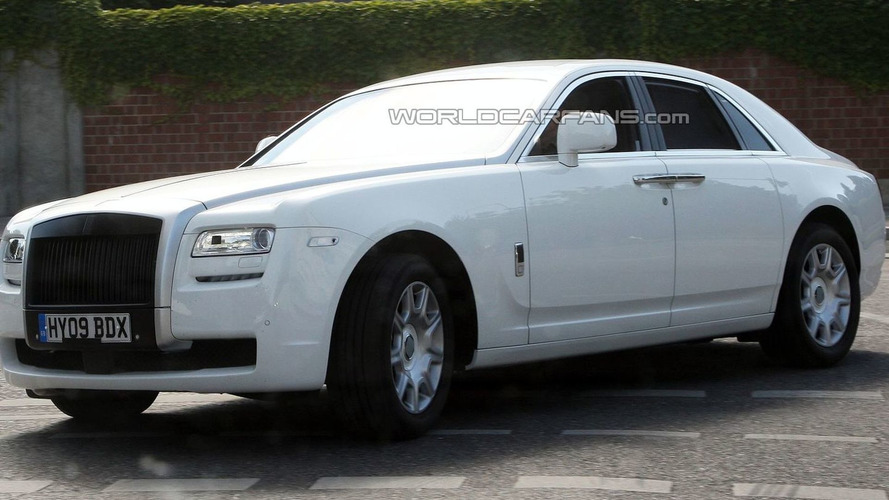 Rolls Royce Ghost Spied in White Livery