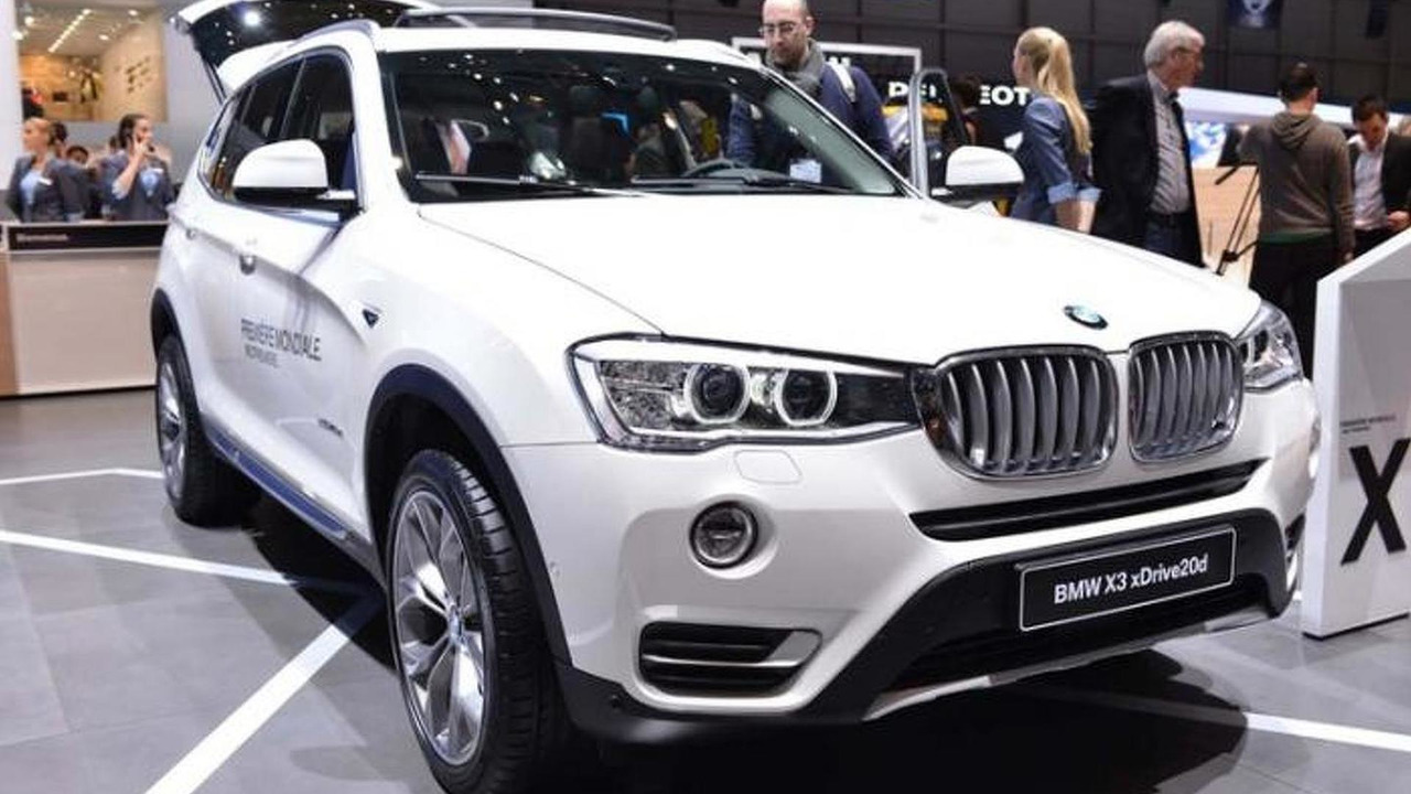 BMW X3 facelift at Geneva Motor Show