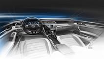 Volkswagen New Midsize Coupe concept design sketch