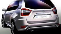 2013 Nissan Terrano official sketch 11.06.2013
