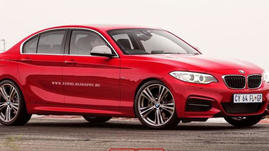 2016 BMW 1-series sedan rendered and speculated