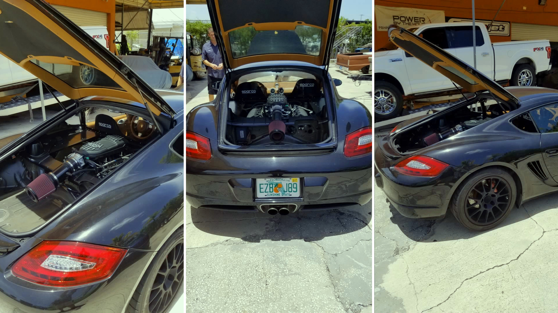 Porsche Cayman Receives Ford 5 0l V8 Conversion