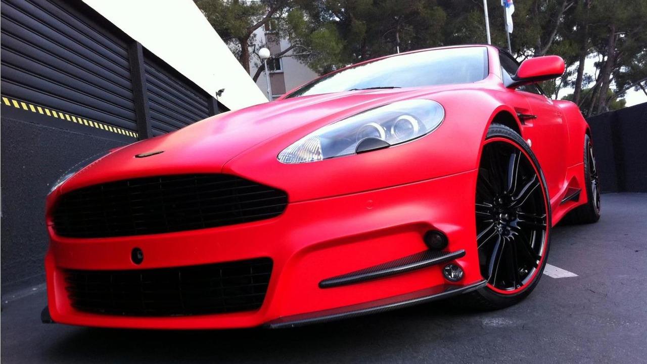 Mansory Aston Martin DBS with Dartz red satin matt wrap 03.01.2012