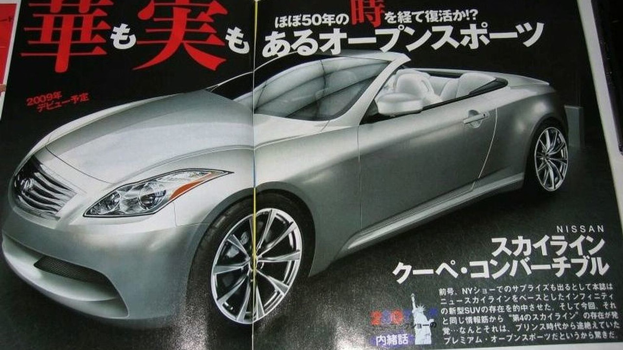 Artist rendering of Infiniti G37 Coupe-Convertible