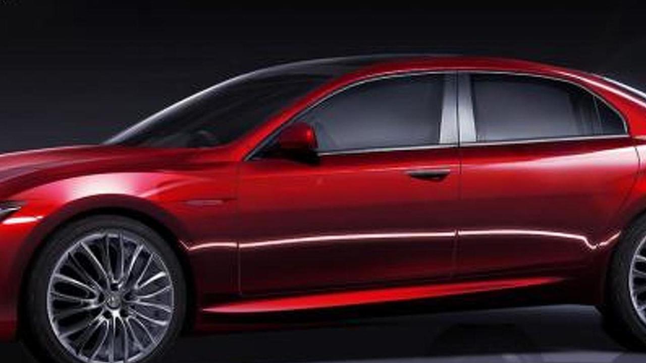 Alfa Romeo Giulia sedan speculative renderings 07.01.2012