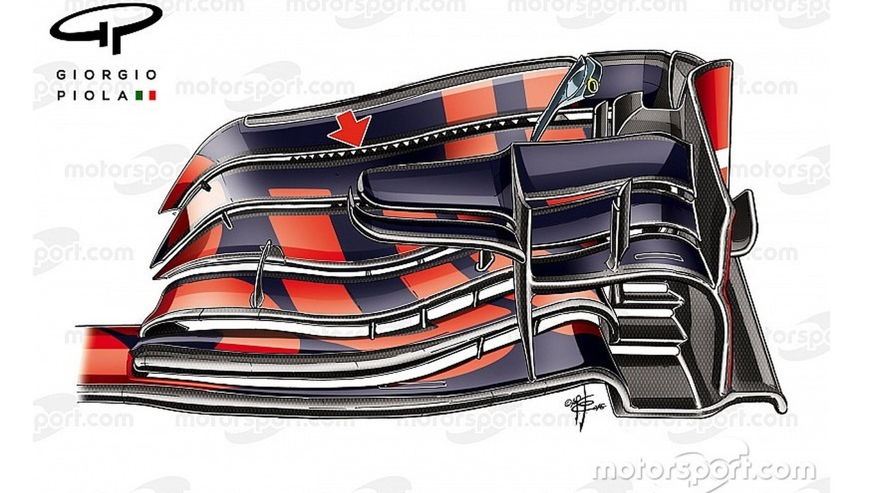 Red Bull RB12 front wing, captioned, Chinese Grand-Prix