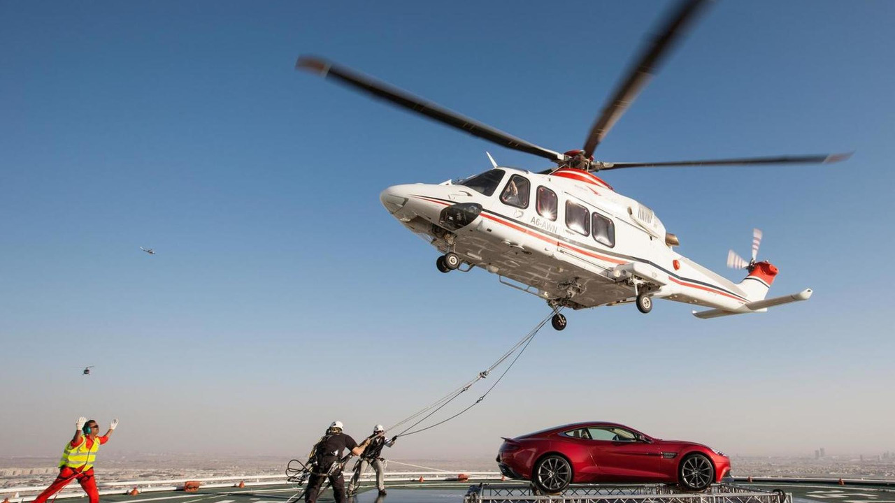 Aston Martin centenary spectacular in Dubai
