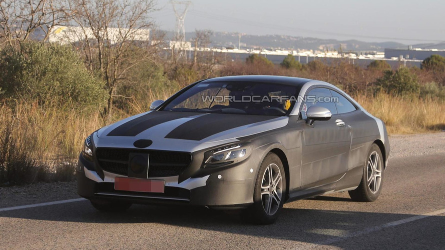 2014 Mercedes-Benz S-Class Coupe returns in more revealing spy photos, AMG spoiler package spotted