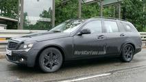 Mercedes C-Class spy photo