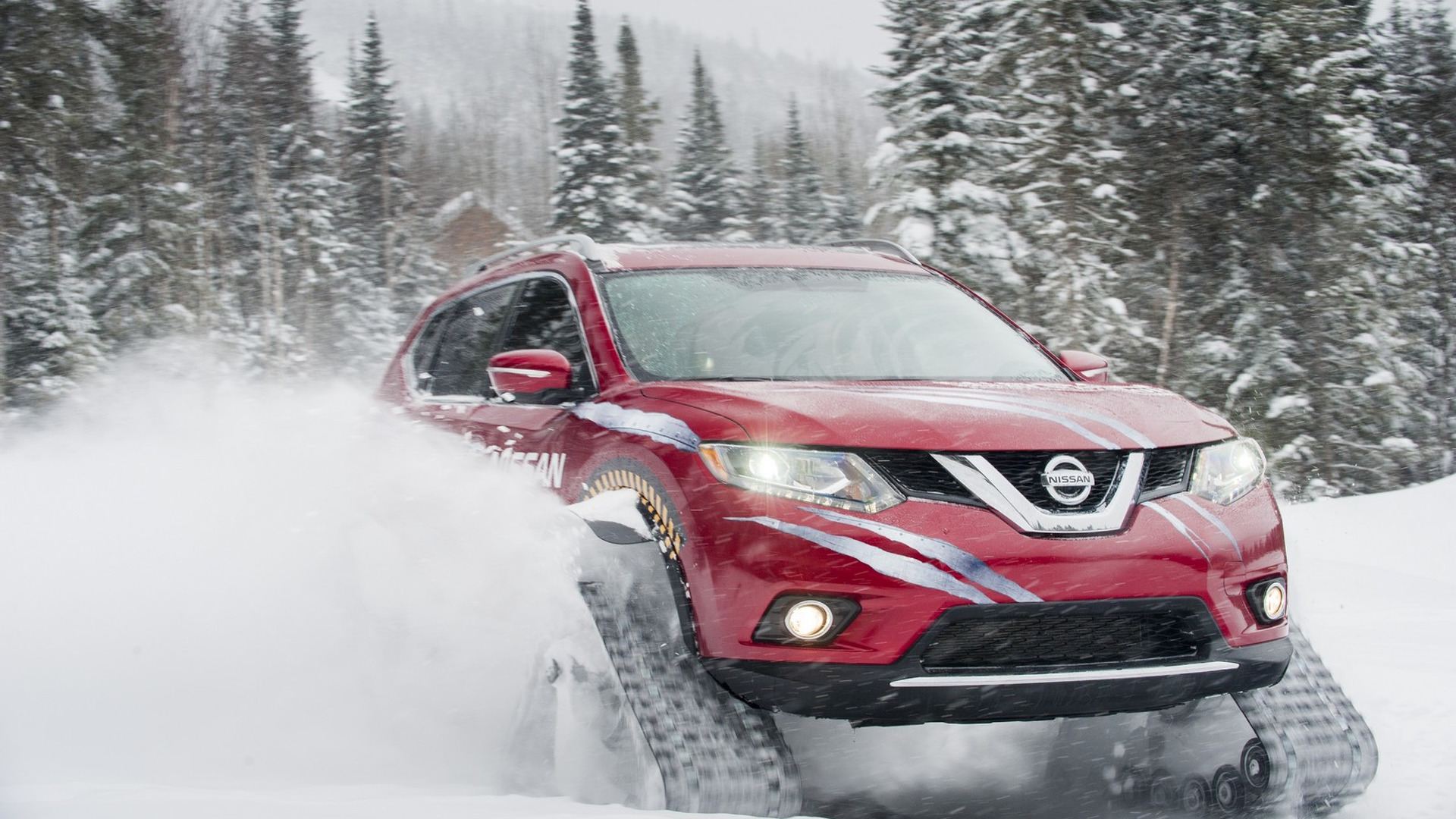Nissan Rogue Warrior concept unveiled with snow tracks [videos]