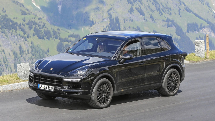 2018 Porsche Cayenne spied testing at the 'Ring and in the Alps