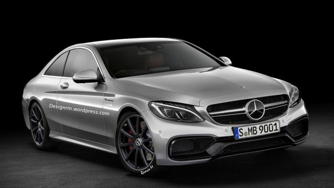 Mercedes C63 AMG Coupe rendering