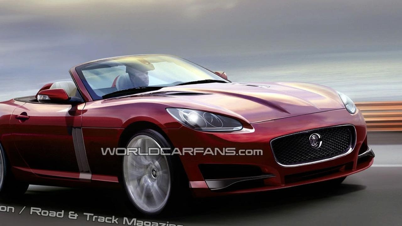 Jaguar XF Roadster artist rendering