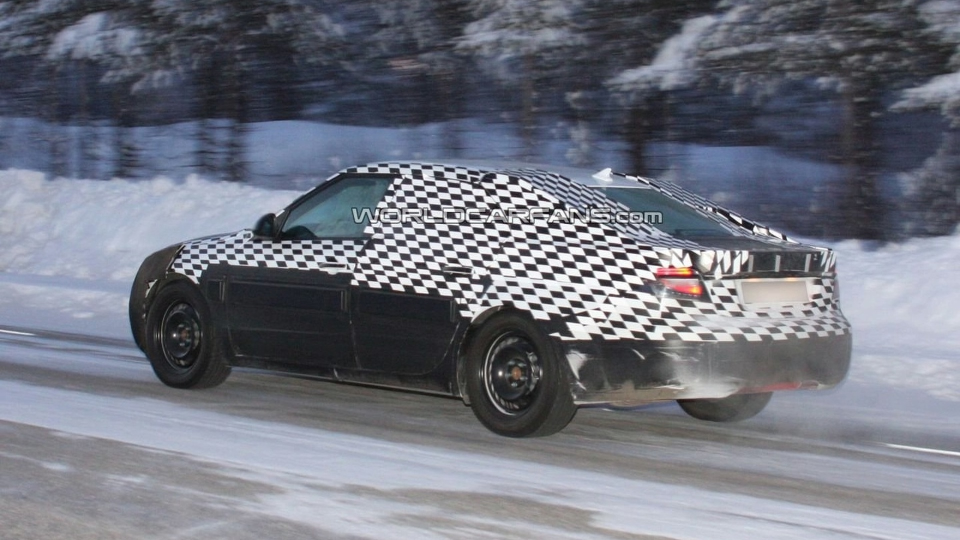 Saab 9-5 Spy Photos - 2nd Outing