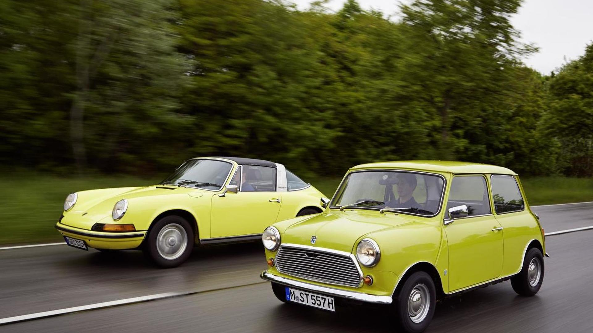 Classic MINI says happy 50th birthday to the Porsche 911