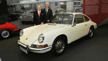 Dr. Wolfgang Porsche and Matthias Müller at Porsche Museum 50 Years of 911 anniversary exhibition 05.6.2013