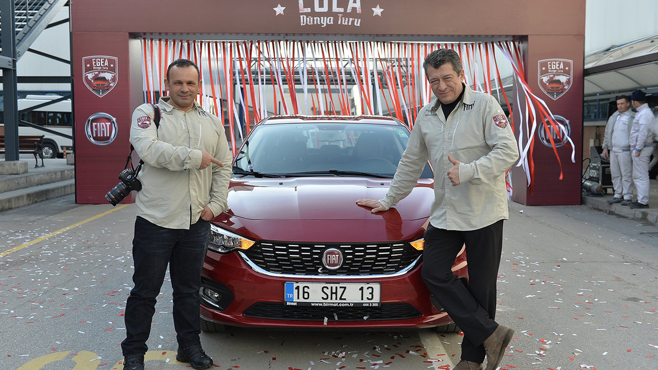 Driving a turkish made fiat around the world