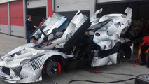 Fully camouflaged Ferrari LaFerrari XX spied up and close, to debut in December