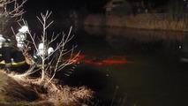 Red Ferrari F430 Spider crashed into lake in Austria