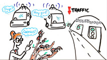 Video teaches drivers how to avoid getting stuck in traffic