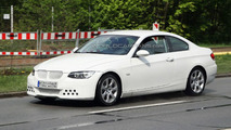 BMW 3-Series Coupe Facelift Spied with White Dressing