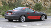 2012 Mercedes SLK Prototype caught with a little less camo