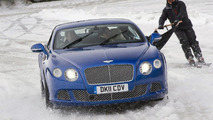 Skiing behind a Bentley Continental GT [videos]