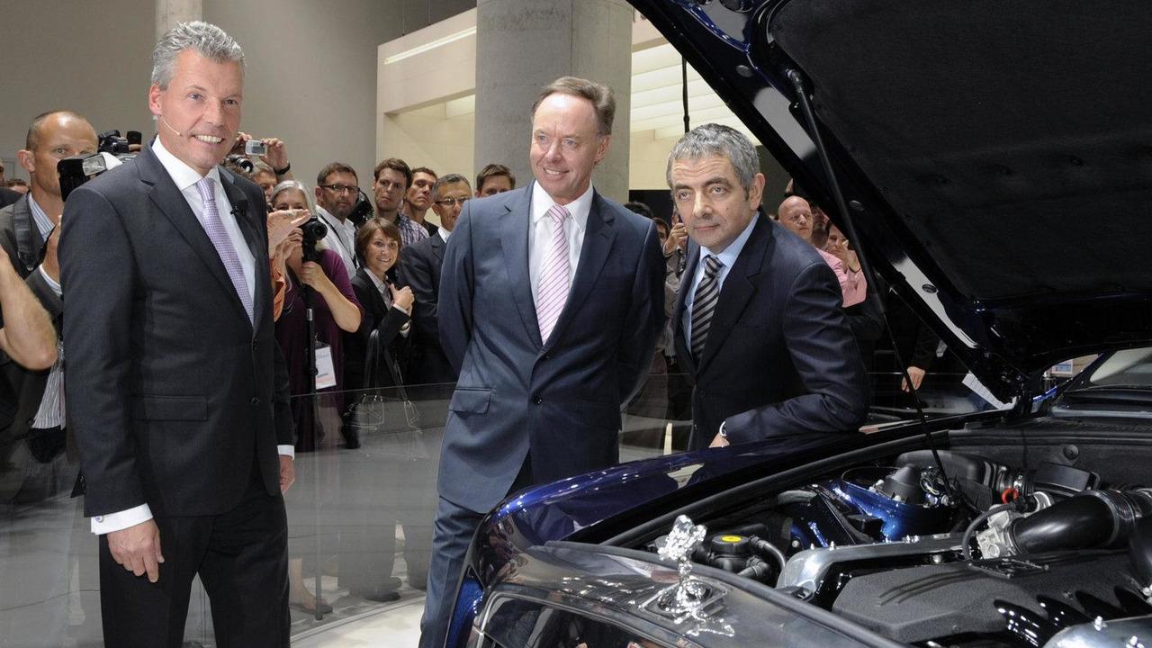 Rowan Atkinson and Torsten Müller-Ötvös at Frankfurt IAA 13.09.2011