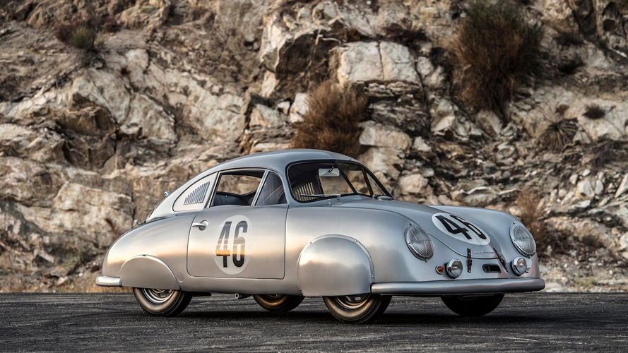 Porsche 356 SL Gmund Coupe visits Leno, brand's first Le Mans winner