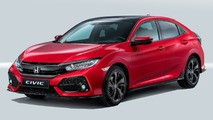 2017 Honda Civic hatch debuts in Paris with two VTEC turbo engines