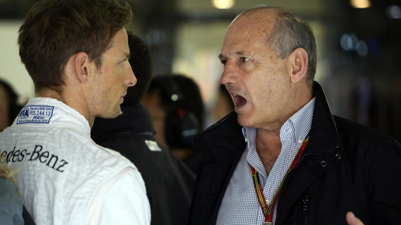 Jenson Button (GBR) with Ron Dennis (GBR), 19.04.2014, Chinese Grand Prix, Shanghai / XPB