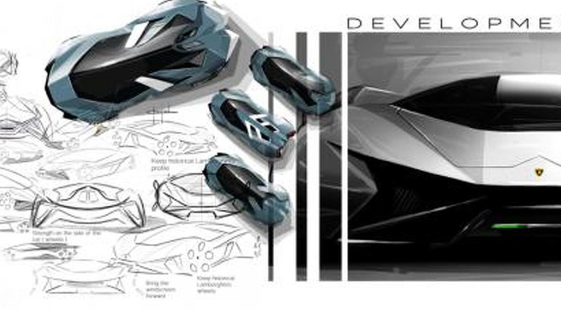 Lamborghini Diamante concept artist rendering for the year 2023 [video]