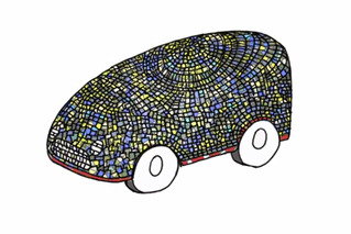 Mini Backs Design of Stained Glass Driverless Car [w/Video]