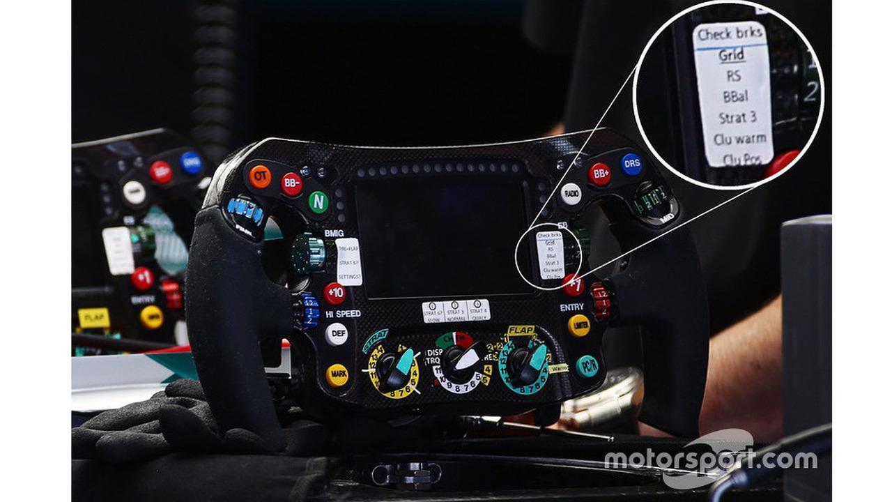 Mercedes AMG-F1 steering wheel