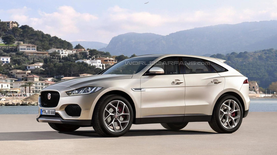 Jaguar E-Pace speculatively rendered, coming before 2020
